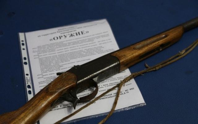 Хранение оружия по закону.
