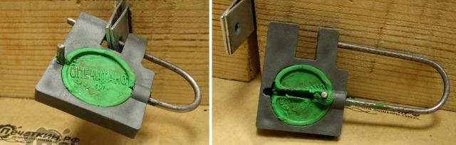 Навесное опечатывающее устройство под петли